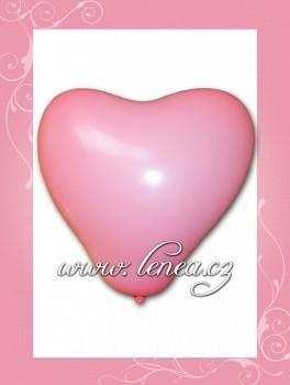 Balónek nafukovací-Srdce růžové