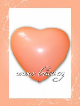 Balónek nafukovací-Srdce lososové