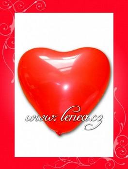 Balónek nafukovací-Srdce červené