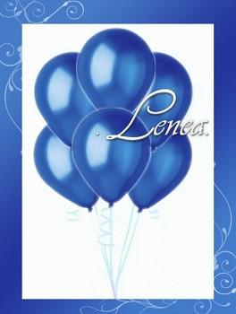 Balónek nafukovací-metalíza-modrá