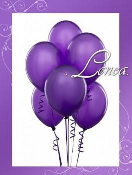 Balónek nafukovací-fialový-metalíza