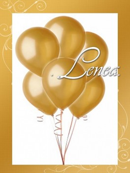 Balónek nafukovací-metalíza-zlatá