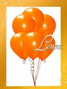 Balónek nafukovací-oranžový-metalíza