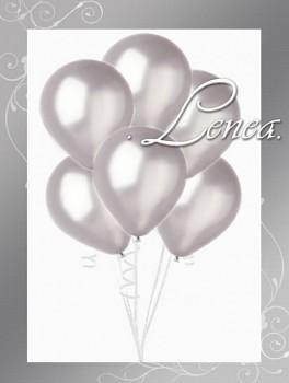 Balónek nafukovací-metalíza-stříbrná