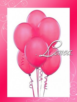 Balónek nafukovací-malinový-metalíza