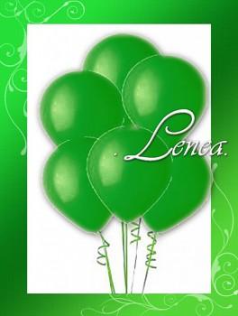 Balónek nafukovací-metalíza-zelená