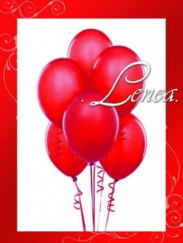 Balónek nafukovací-metalíza-červená