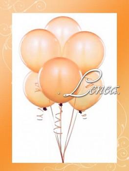 Balónek nafukovací-perleťový broskvový