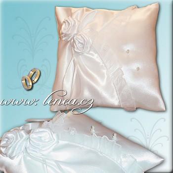 Svatební polštářek na prstýnky-White 7