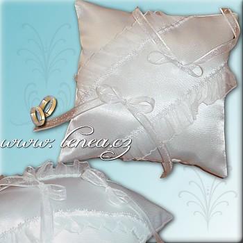 Svatební polštářek na prstýnky-White 8