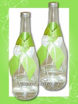 Dekorace na láhev-Green 3
