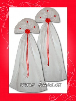 Organzová dekorace-červená