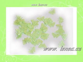 Motýlek látkový- světle zelený