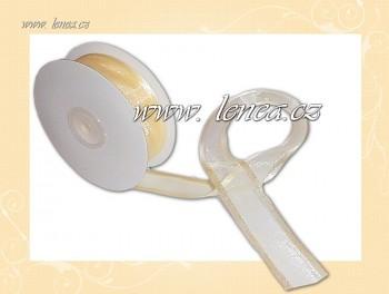 Monofilová stuha-25 mm-smetanová
