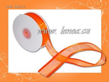 Monofilová stuha-25mm-oranžová