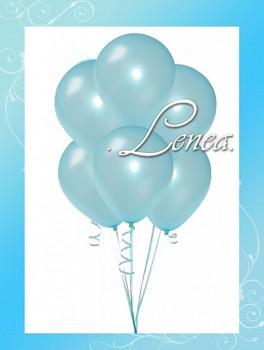 Balónek nafukovací-perleťový modrý