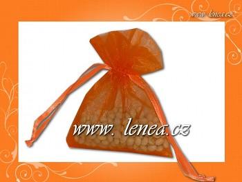 Organzový pytlíček-oranžový