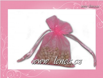 Organzový pytlíček-růžový