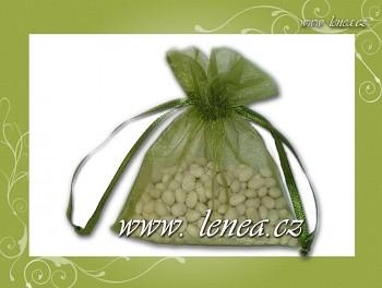 Dárkový pytlíček-zelený olivový