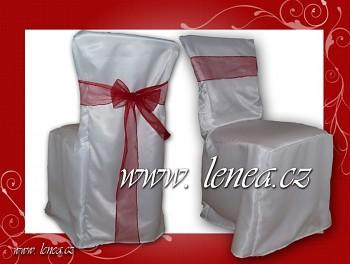 Potahy na židle jemné bílé i smetanové