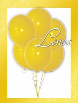 Balónek nafukovací-žlutý