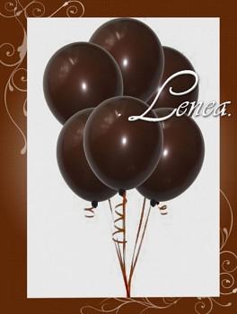 Balónek nafukovací-hnědý