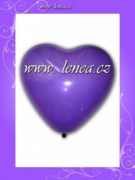 Balónek nafukovací-Srdce fialové