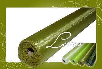 Organza olivově zelená