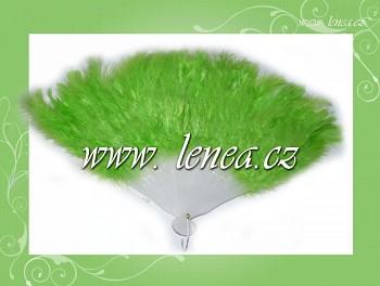 Vějř péřový-zelený