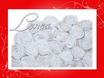 Růžičky sasténové 12mm  bílé