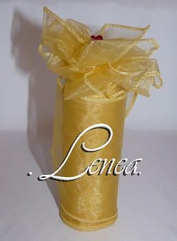 Organza 12 cm-žlutá tmavší