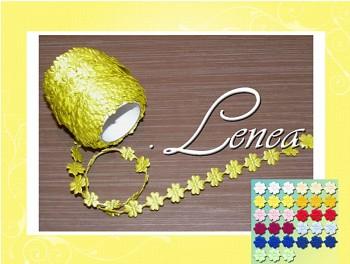 Saténový čtyřlístek-žlutý
