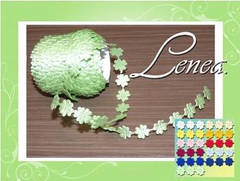 Saténový čtyřlístek-zelený