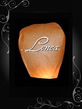Létající lampion-čepice-oranžová