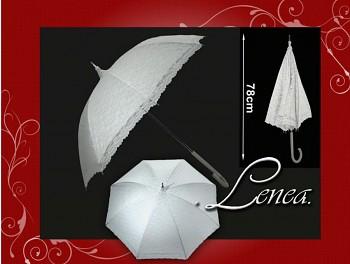 Deštník svatební - bílý krajkový