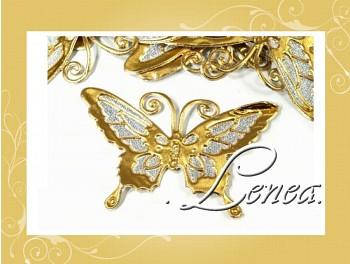 Motýlek 7x9-zlatý