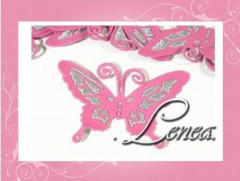 Motýlek 7x9-růžový