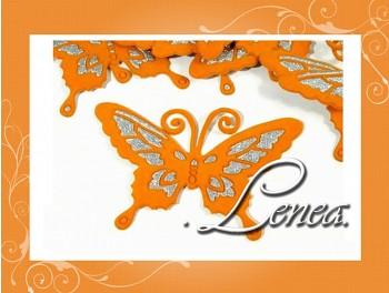 Motýlek 7x9-oranžový