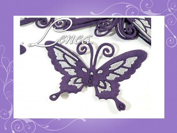 Motýlek 7x9-fialový