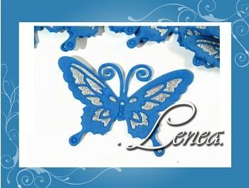 Motýlek 7x9-modrý