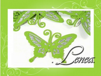 Motýlek 7x9-zelený