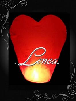 AKCE!!!!-Létající lampion-červené srdce