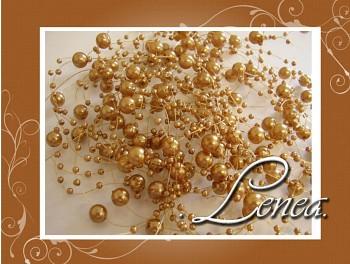 Perličky na silikonu-zlato-hnědé