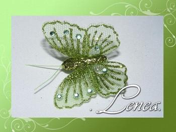 Motýl s kamínky-zelený