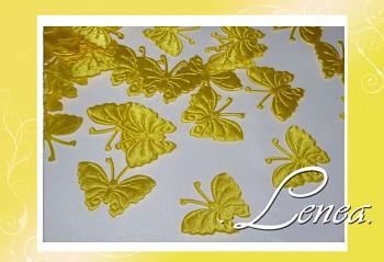 Motýl saténový-žlutý 50ks