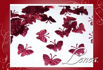 Motýlek saténový-bordó 50ks