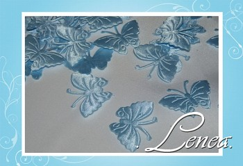 Motýlek saténový-sv.modrý 50ks