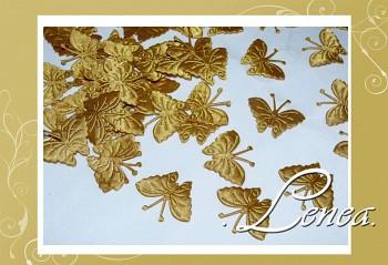 Motýlek saténový-zlatý 50ks