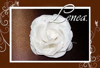 Květ do vlasů-růže ivory