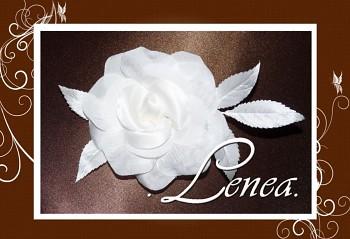 Květ do vlasů růže s lístky